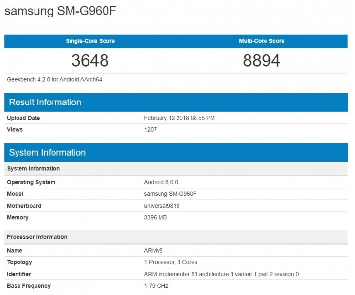 samsung galaxy s9 Geekbench.png