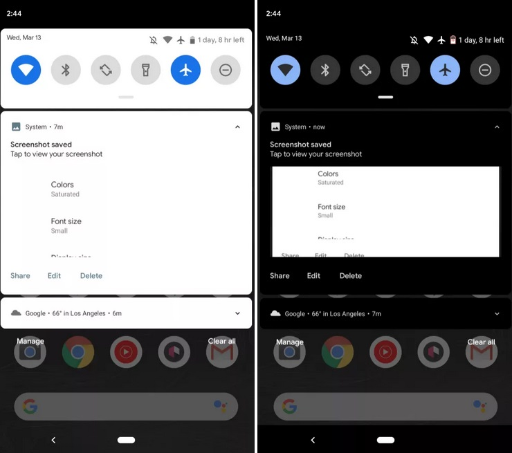Android Q Dark Mode